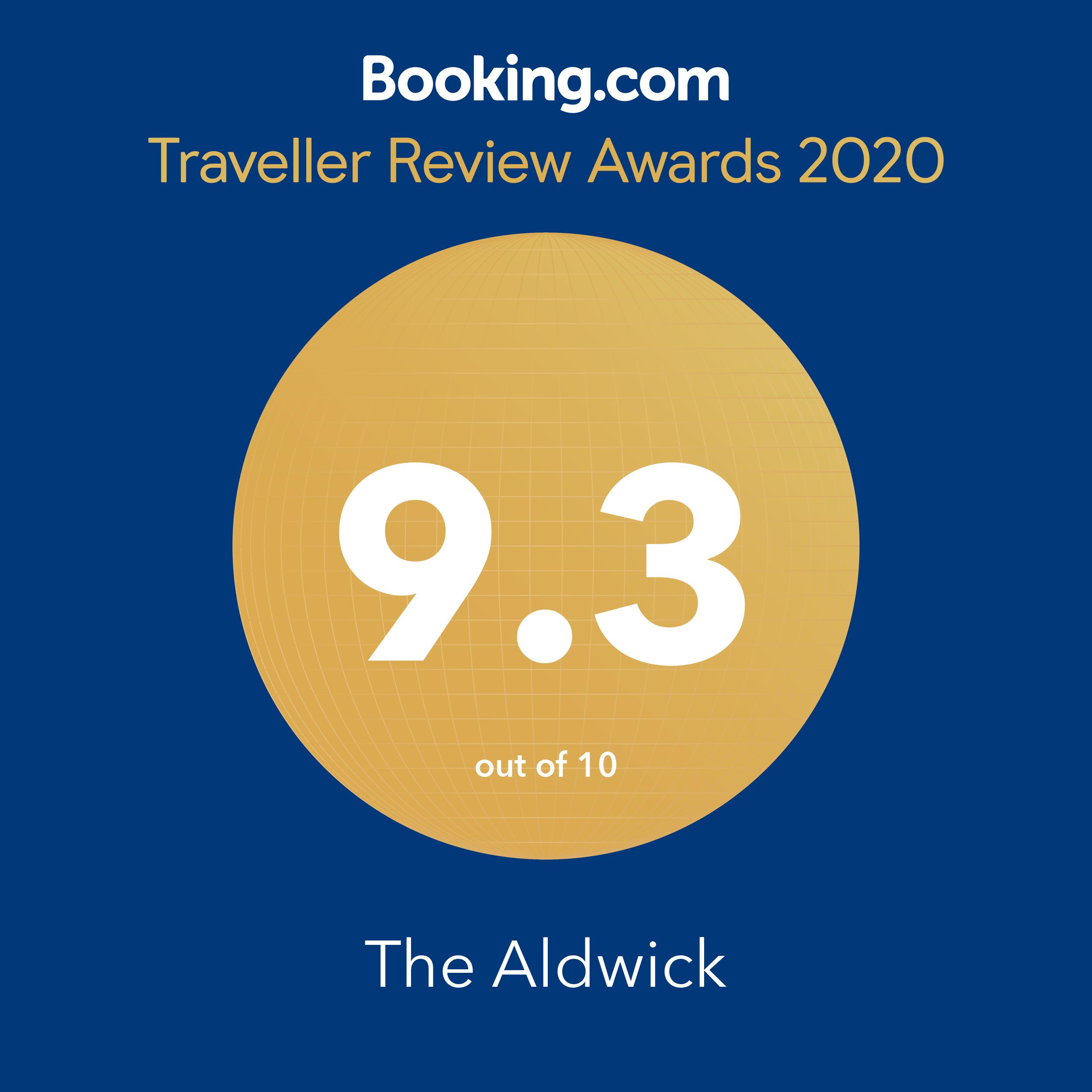 booking award 9.3